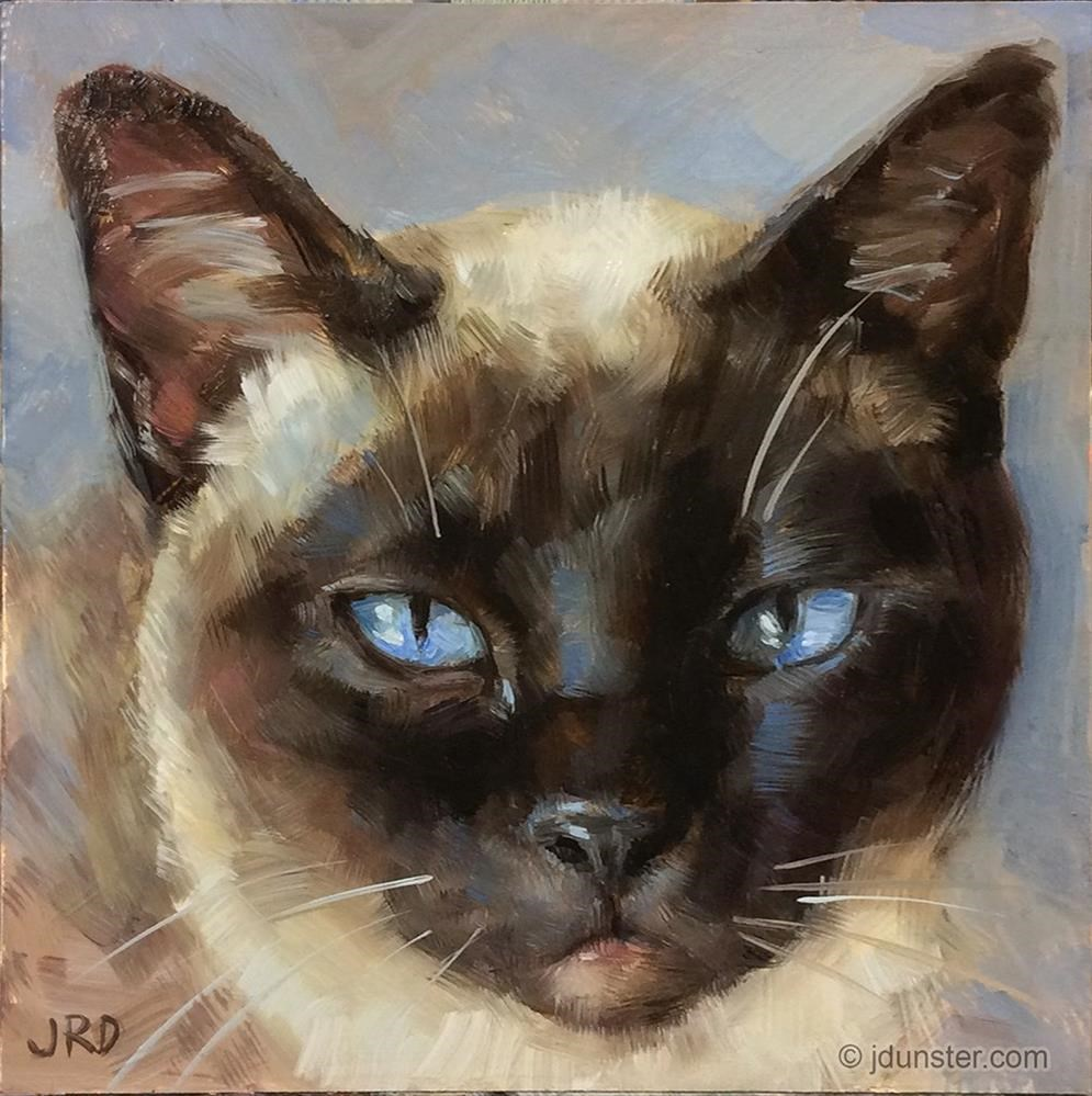 """Custom Cat Portrait available"" original fine art by J. Dunster"