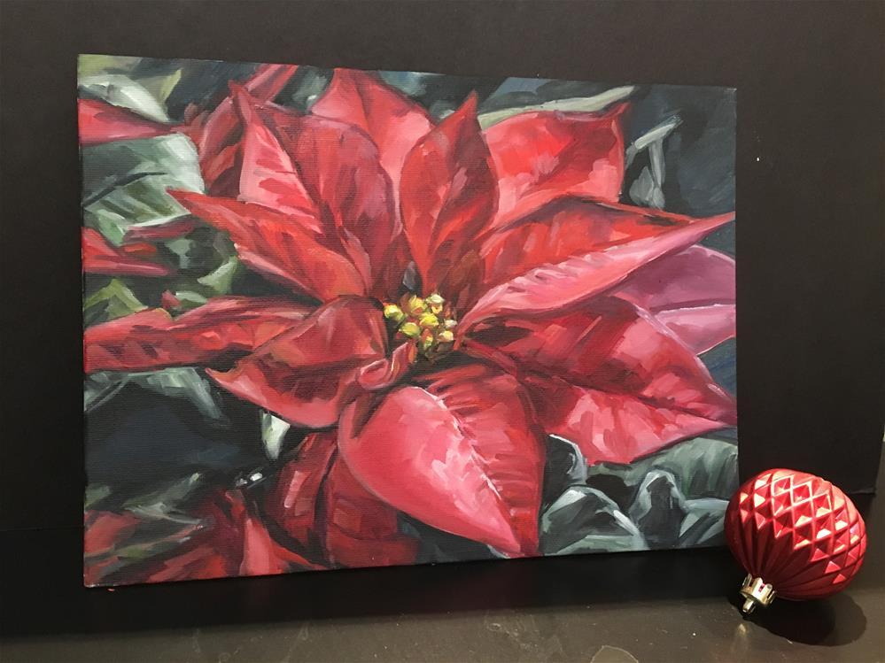 """""""Poinsettia (182)"""" original fine art by Tamanda Elia"""