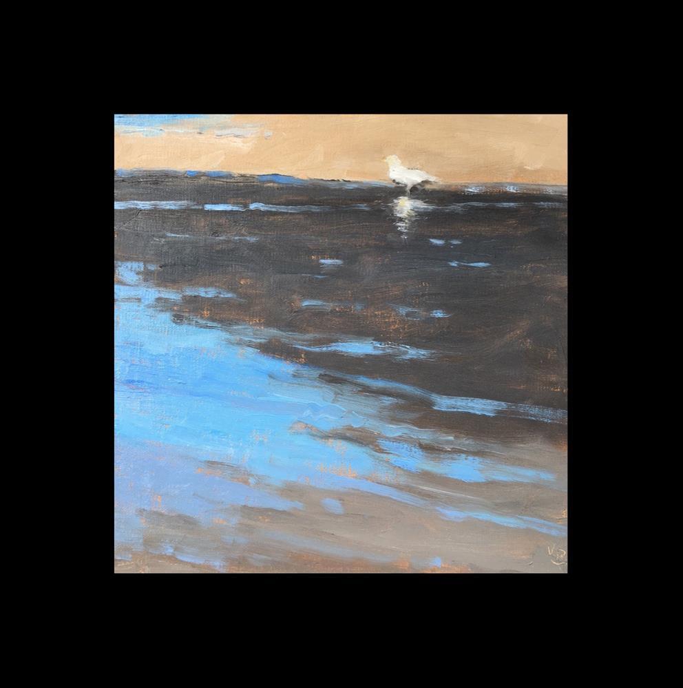 """Ocean meets Sand and Bird"" original fine art by Victoria  Biedron"