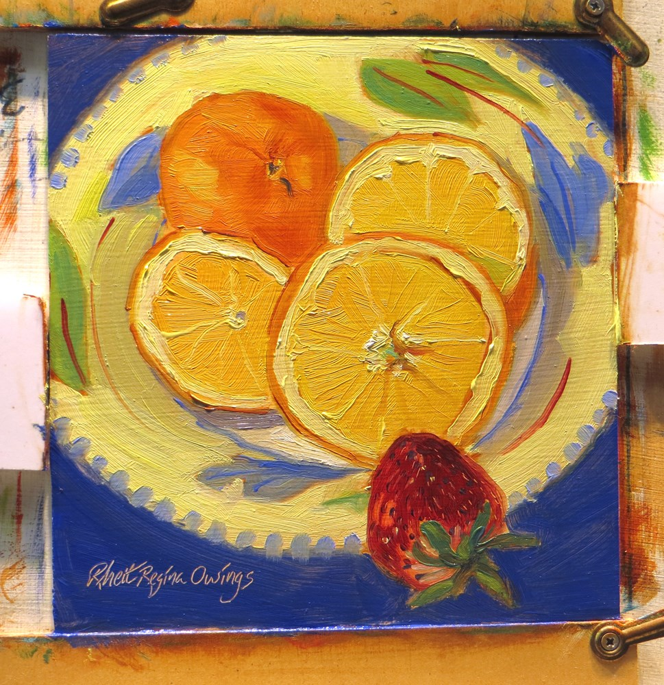 """Odd Strawberry Out"" original fine art by Rhett Regina Owings"