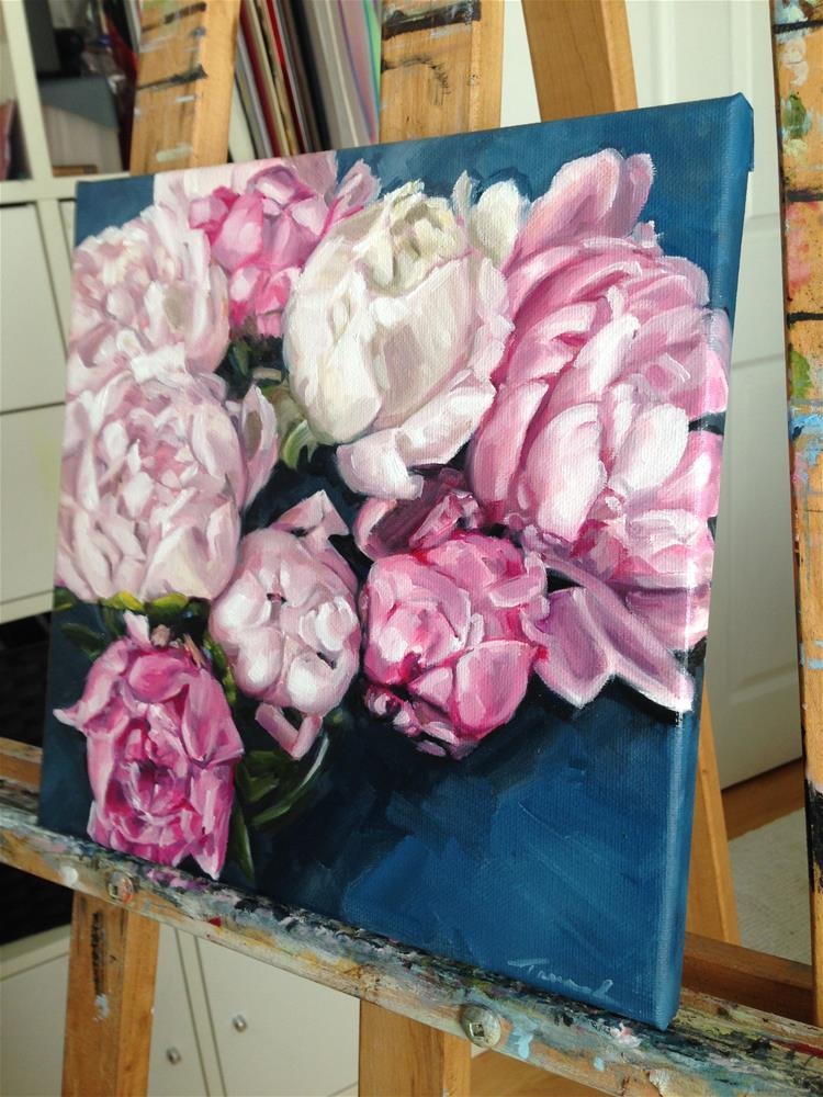 """Peony Twist (121)"" original fine art by Tamanda Elia"
