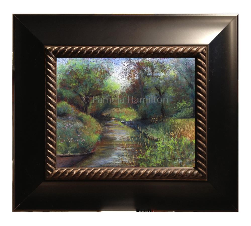 """Creek Bend"" original fine art by Pamela Hamilton"