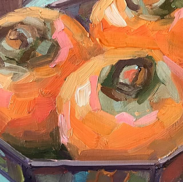 """""""persimmons please"""" original fine art by Nora MacPhail"""