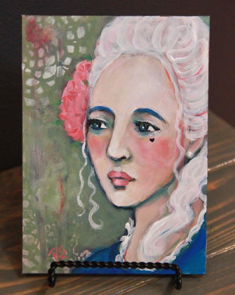 """Mademoiselle Amaline"" original fine art by Roberta Schmidt ArtcyLucy"