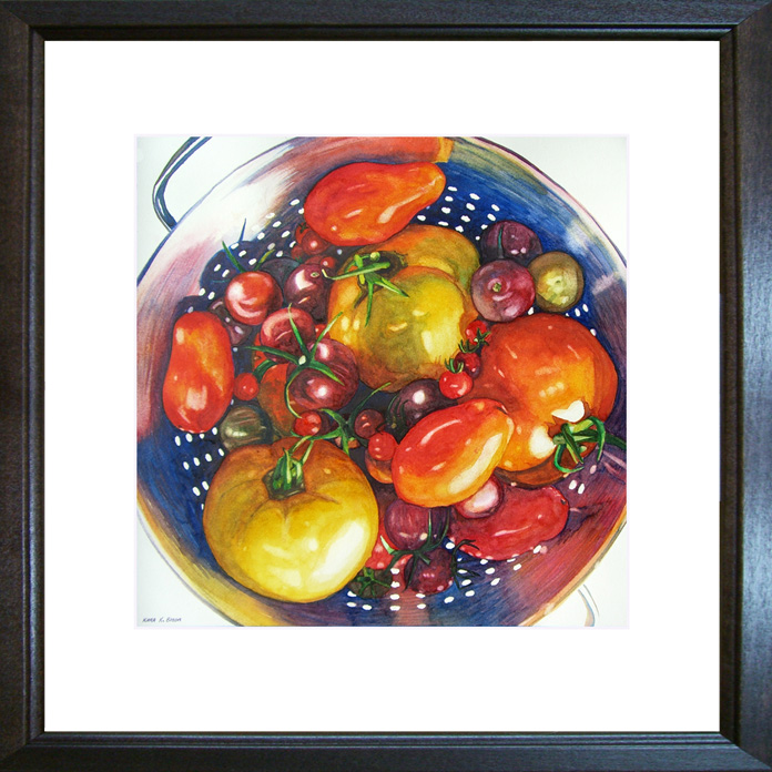 """Tomatoes"" original fine art by Kara K. Bigda"