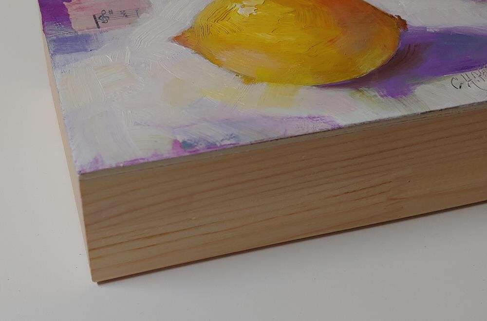 """Lemony and Purple-y"" original fine art by Cindy Haase"