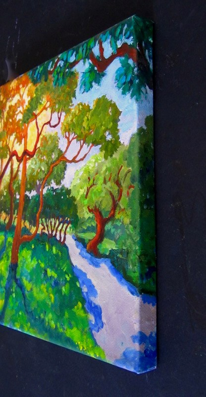 """""""The Wild Woods, Monterey, California"""" original fine art by Patricia Musgrave"""