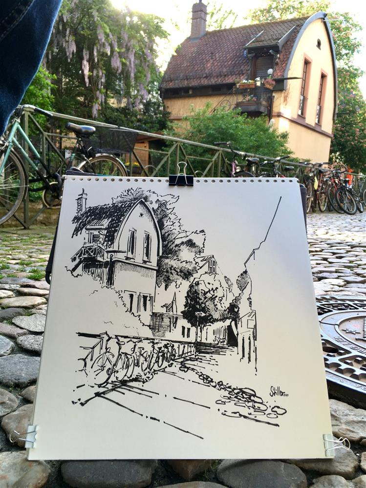"""""""3555 Oil Mill Freiburg"""" original fine art by Dietmar Stiller"""