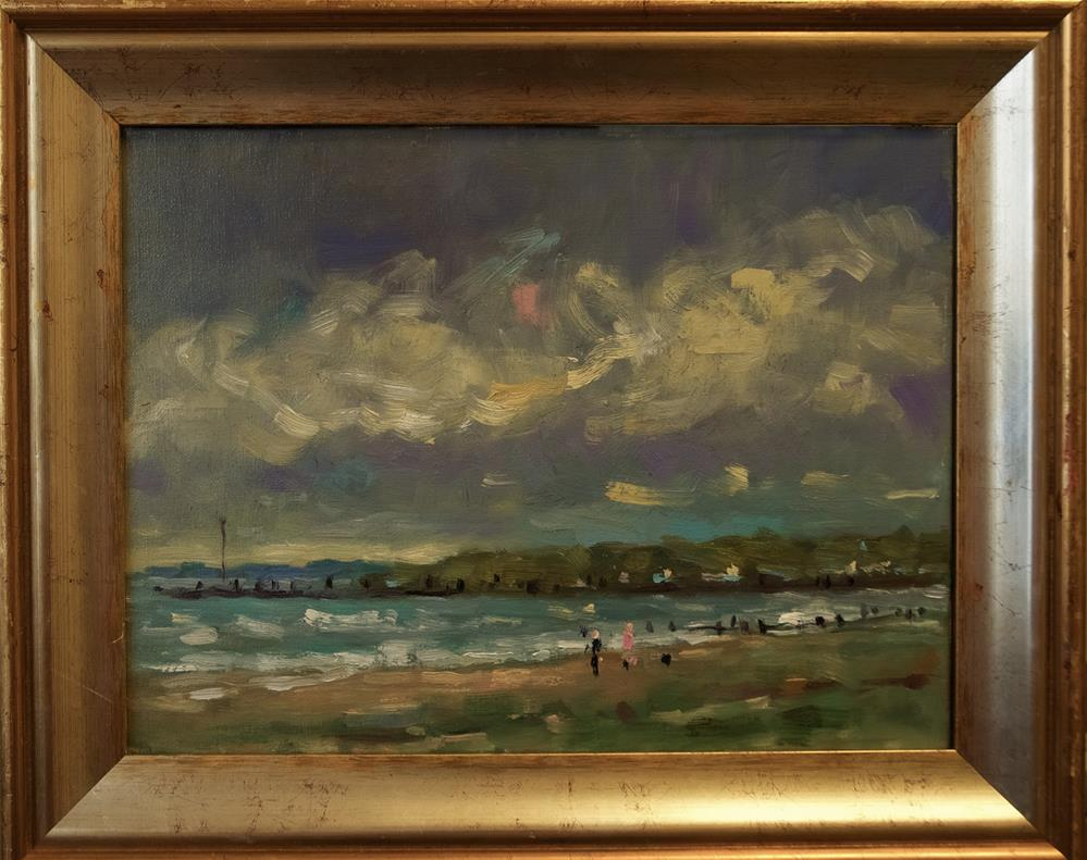 """""""Littlehampton Beach"""" original fine art by Andre Pallat"""