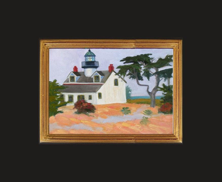 """Point Pinos Lighthouse, PG"" original fine art by Rhett Regina Owings"