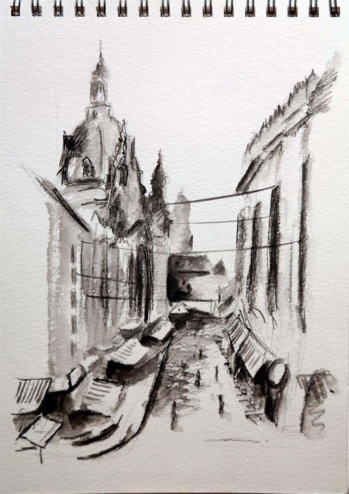 """""""1867 Dresden Frauenkirche"""" original fine art by Dietmar Stiller"""