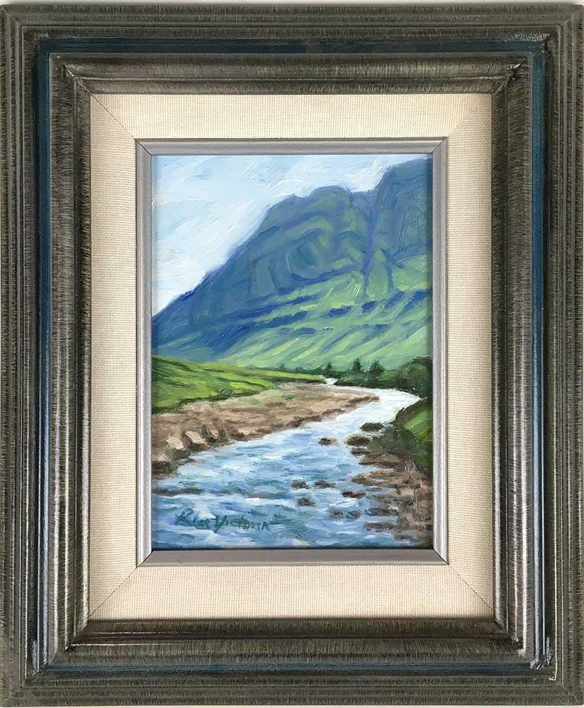 """""""Glen Coe River Valley Miniature, Scotland"""" original fine art by Kim Victoria"""