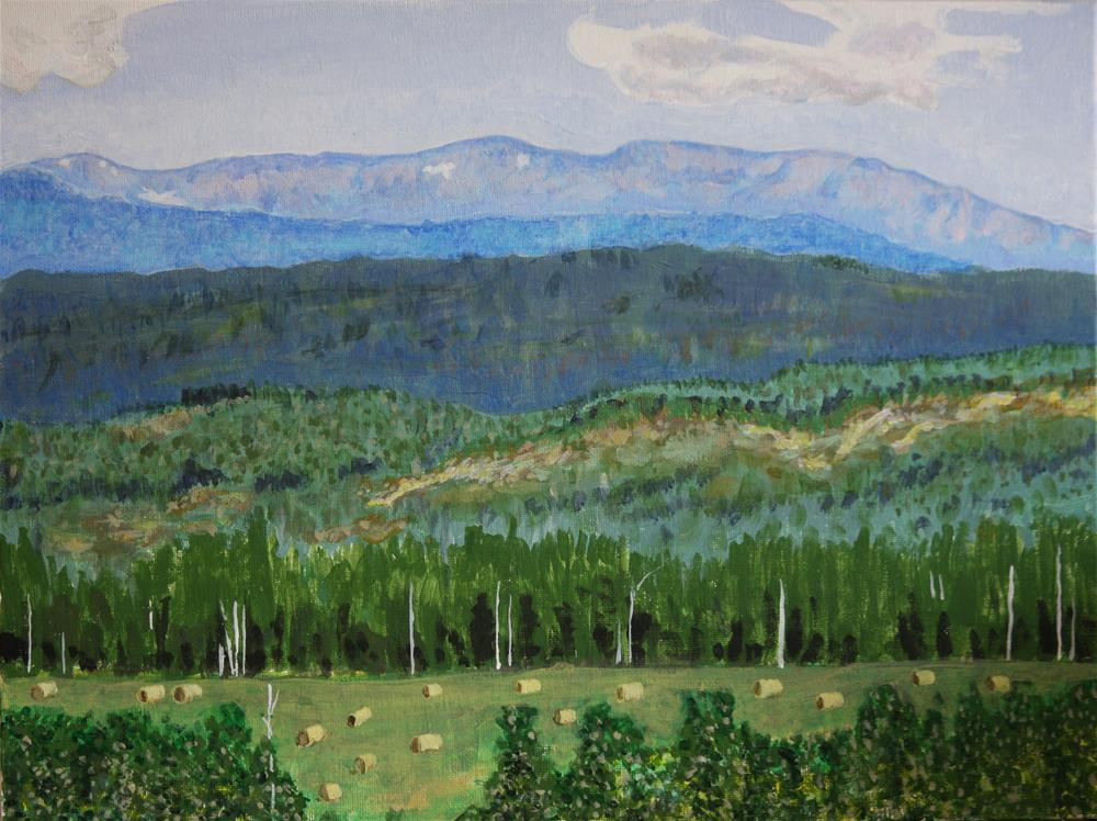 """The Hay is Cut"" original fine art by Terri-Anne Barge"
