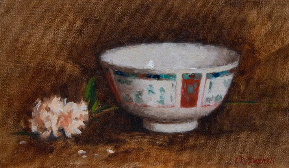 """Rice Bowl"" original fine art by Donna C Farrell"