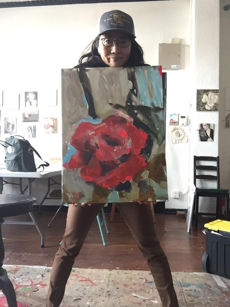 """464 Rosa Linda"" original fine art by Jenny Doh"