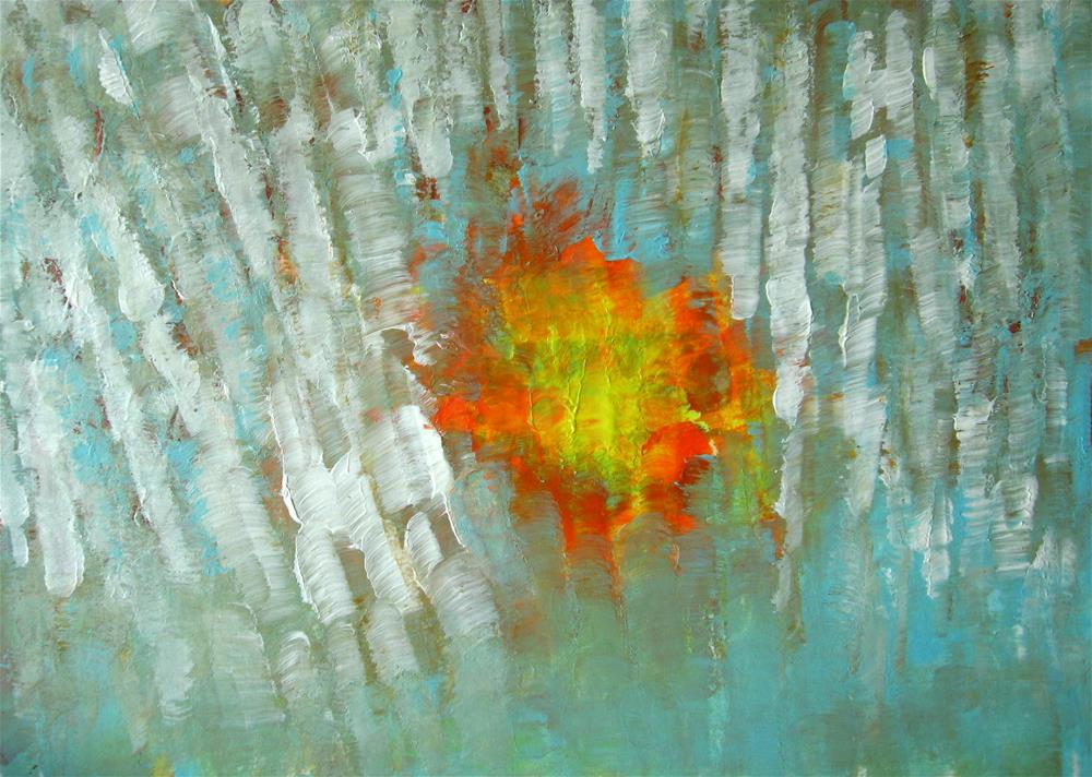 """Orange Flower"" original fine art by Alina Frent"