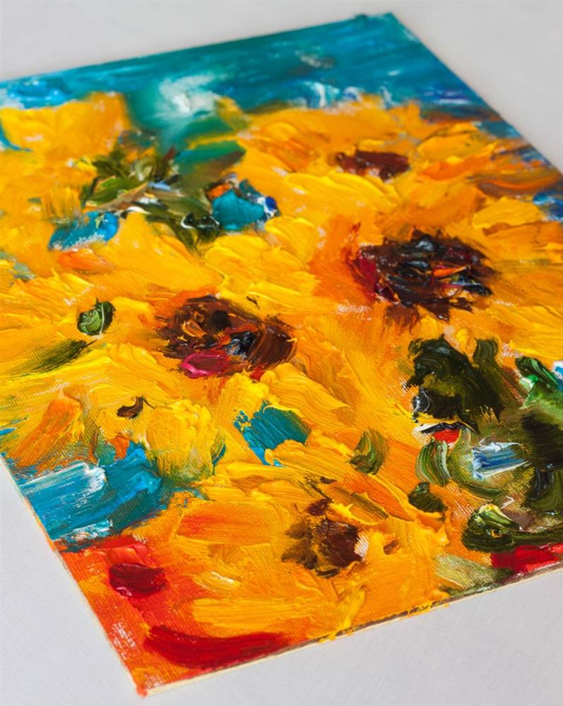"""Sunflowers"" original fine art by Anna Fine Art"