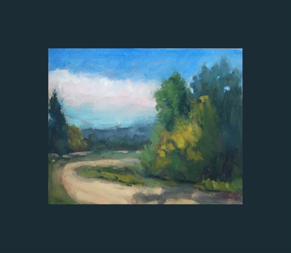 """Late Summer Path"" original fine art by Victoria  Biedron"