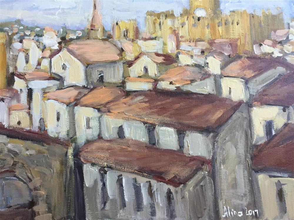 """""""Rooftops"""" original fine art by Alina Vidulescu"""