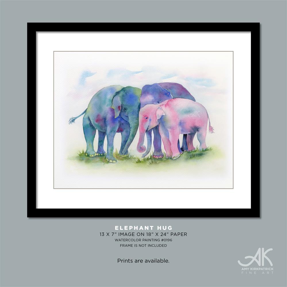 """ELEPHANT HUG #0196"" original fine art by Amy Kirkpatrick"