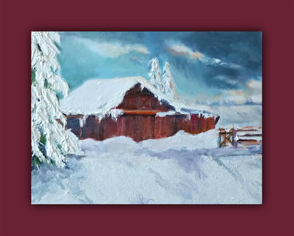 """Passing Snowstorm"" original fine art by Dana C"