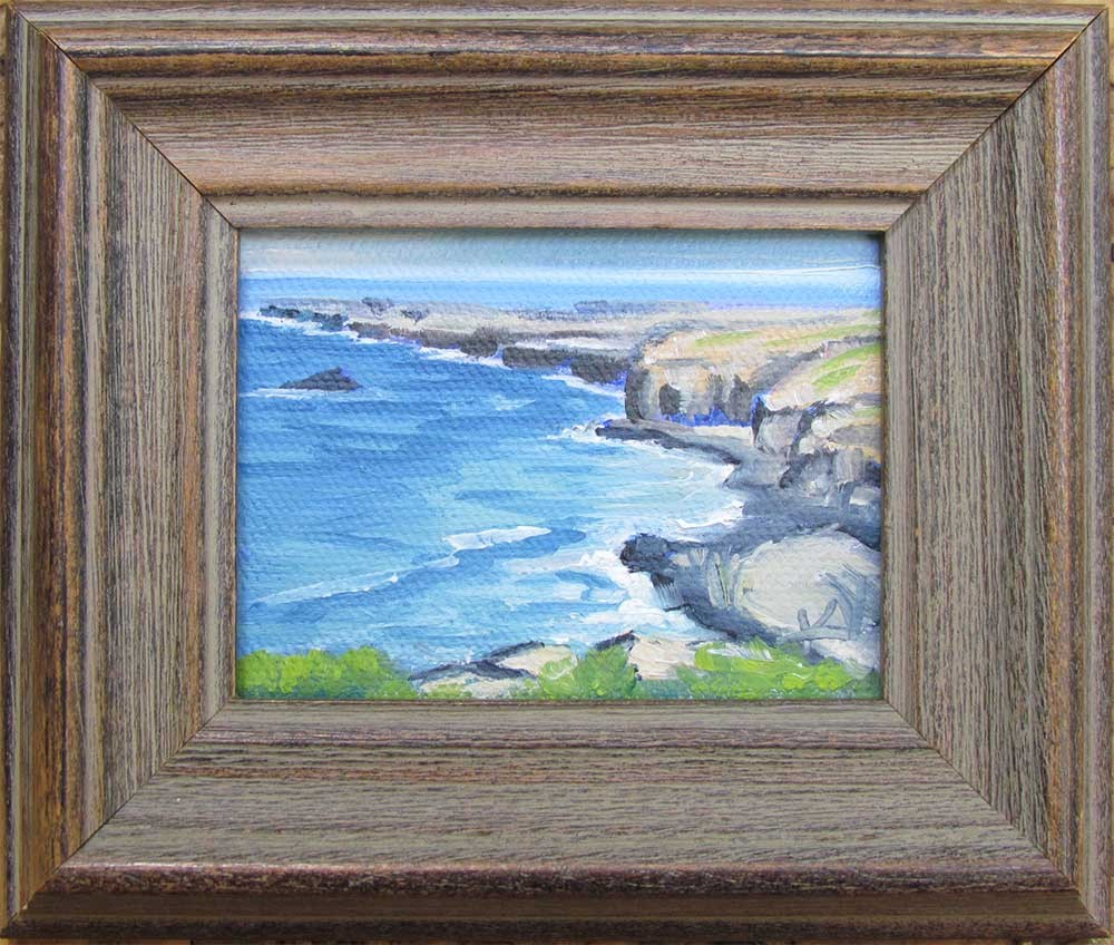 """Fort Bragg Promontory miniature"" original fine art by Kim Victoria"
