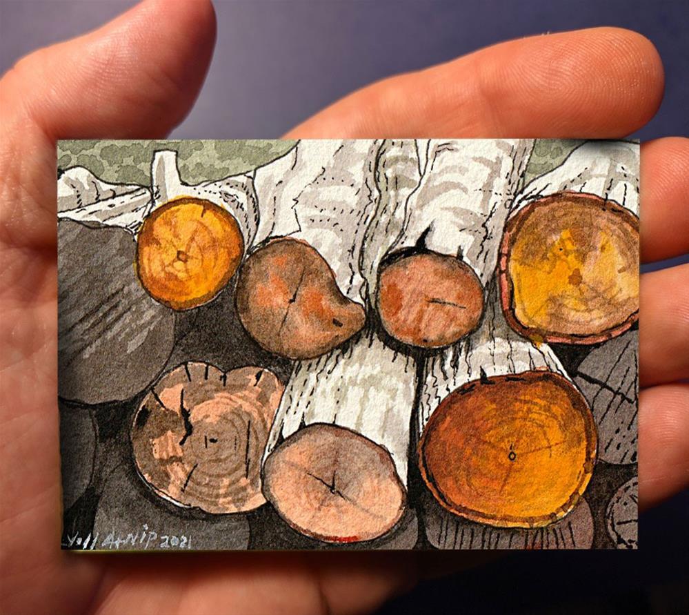 """Cut and Stacked"" original fine art by Jeff Atnip"