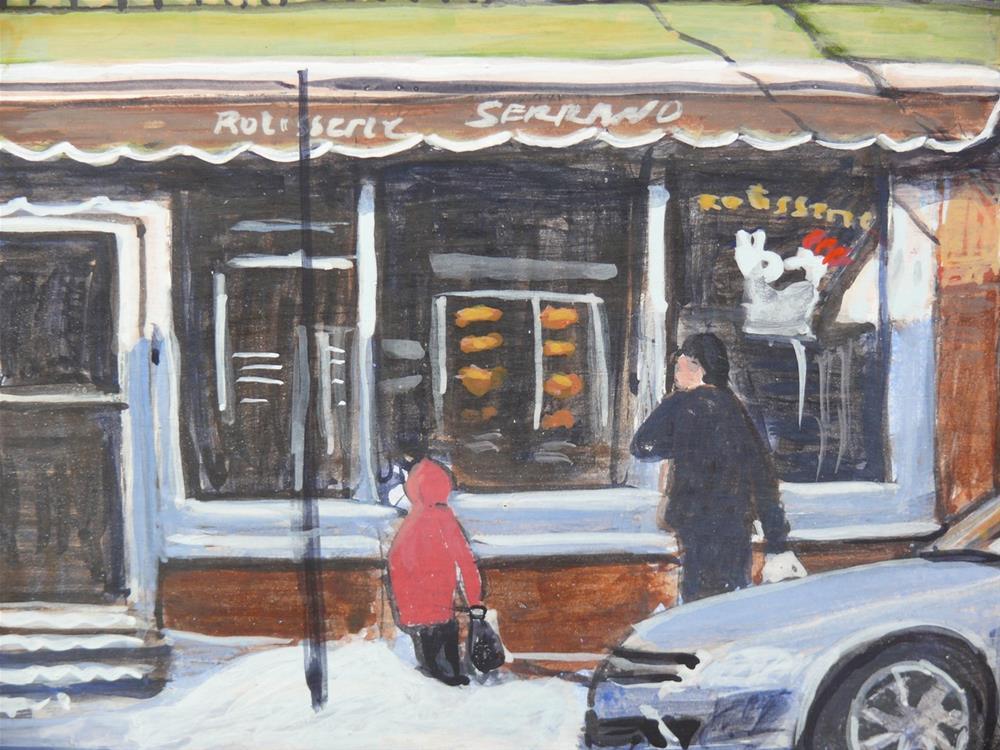 """""""1190 Serrano's Mile End Scene, egg tempera, 8x10"""" original fine art by Darlene Young"""