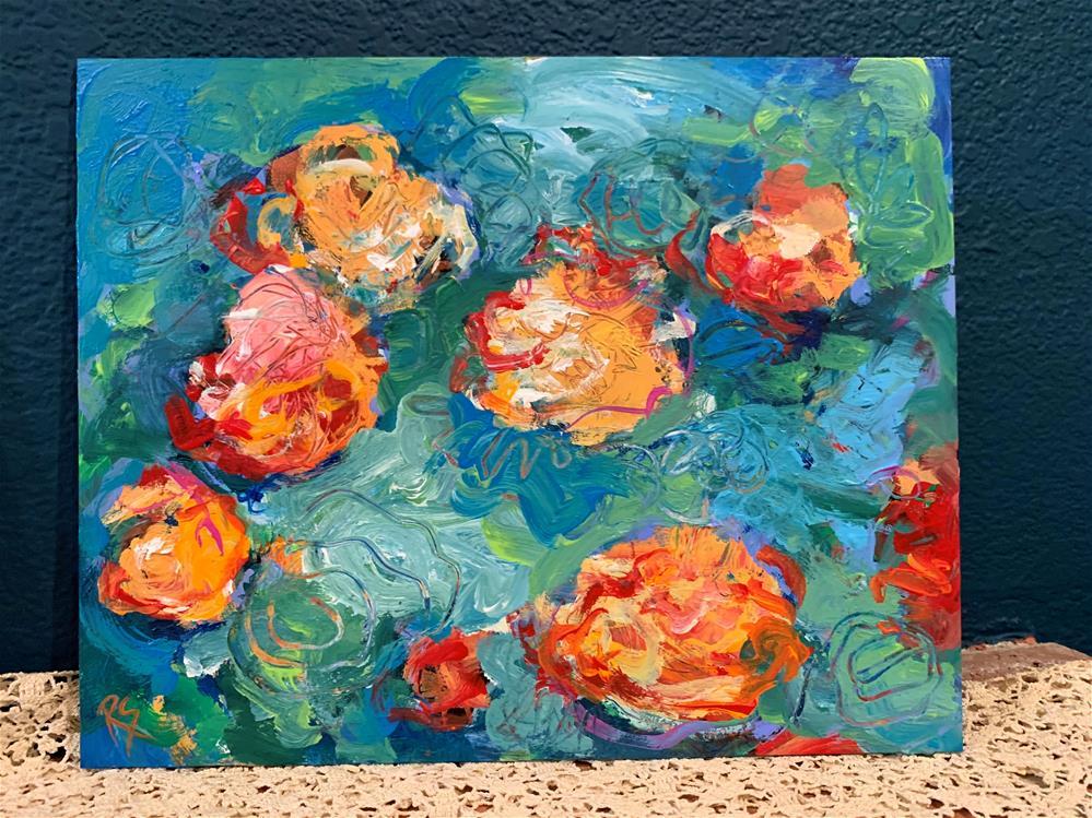 """""""Carry On Quietly"""" original fine art by Roberta Schmidt ArtcyLucy"""