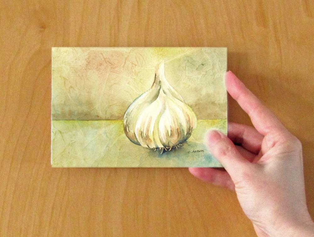"""Garlic Still Life"" original fine art by Corinne Aelbers"