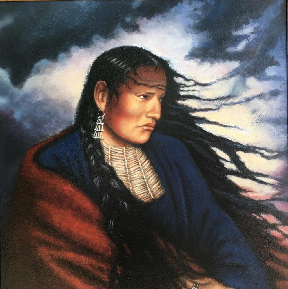 """Thundersquaw"" original fine art by Karen Roncari"