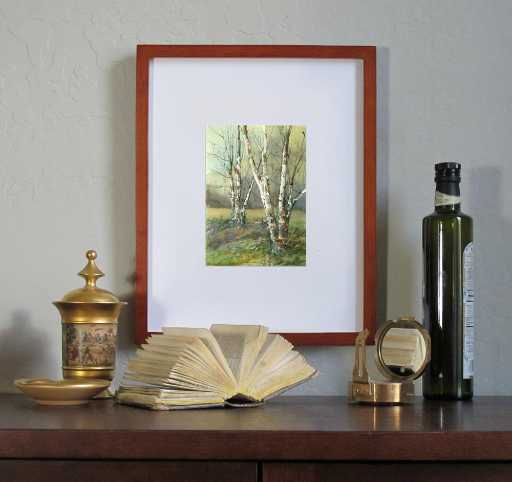 """Birches in Spring"" original fine art by Linda Henry"