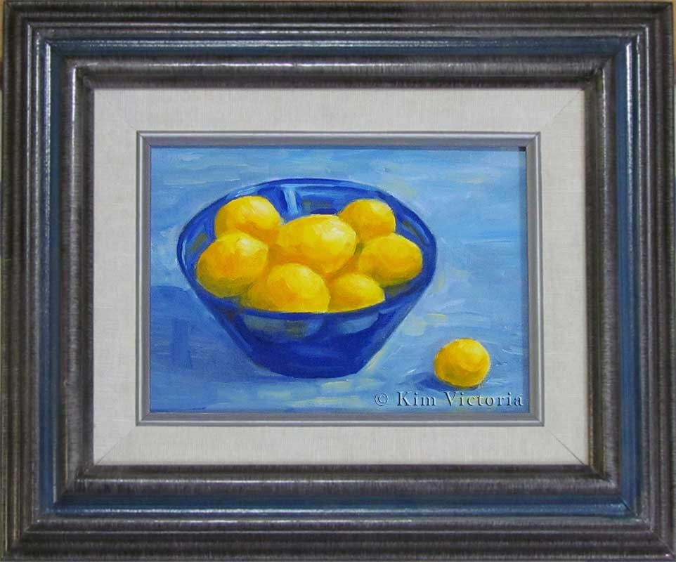 """Yellow & Blue"" original fine art by Kim Victoria"