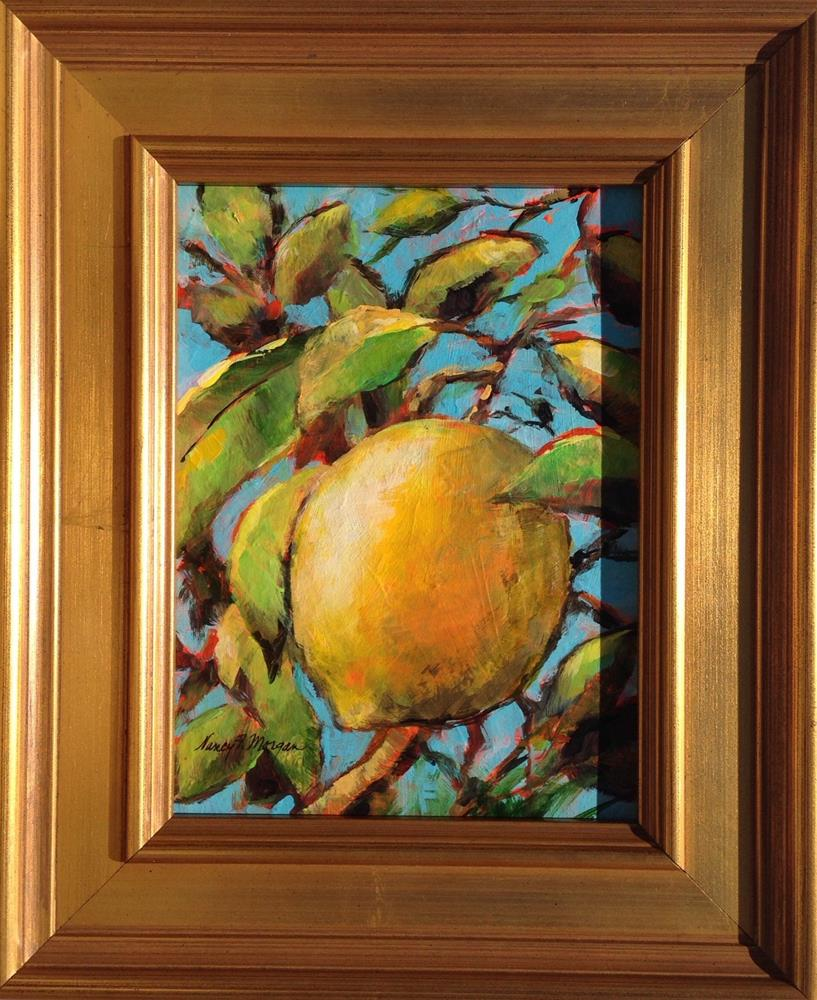 """Lemon Branches"" original fine art by Nancy F. Morgan"