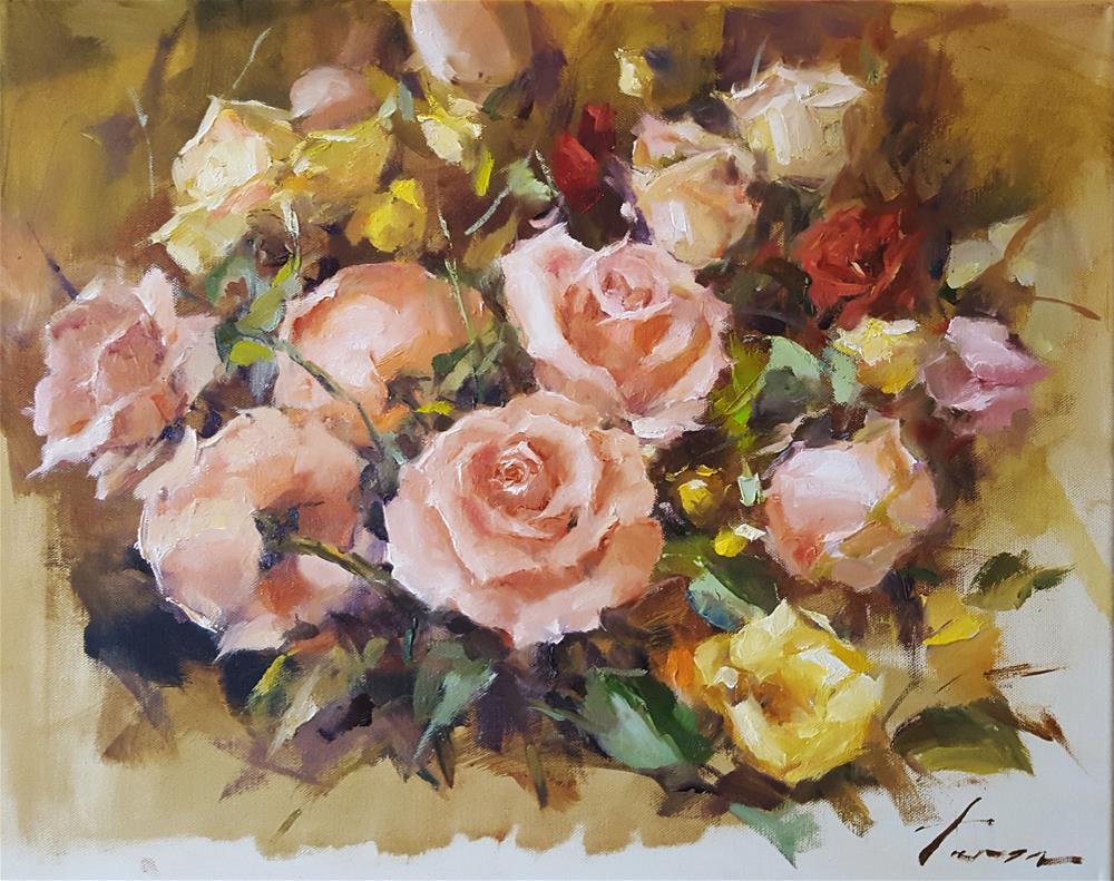"""""""Rose01"""" original fine art by Teresa Yoo"""