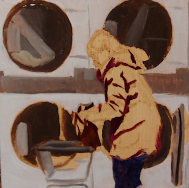"""""""Laundromat - 2"""" original fine art by Edward Watson"""