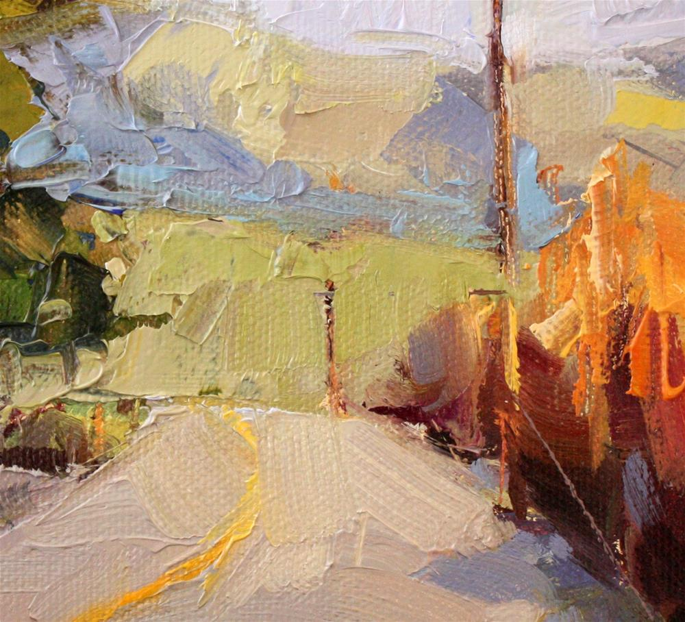 """""""Yvonne's Farm Road"""" original fine art by Cathleen Rehfeld"""