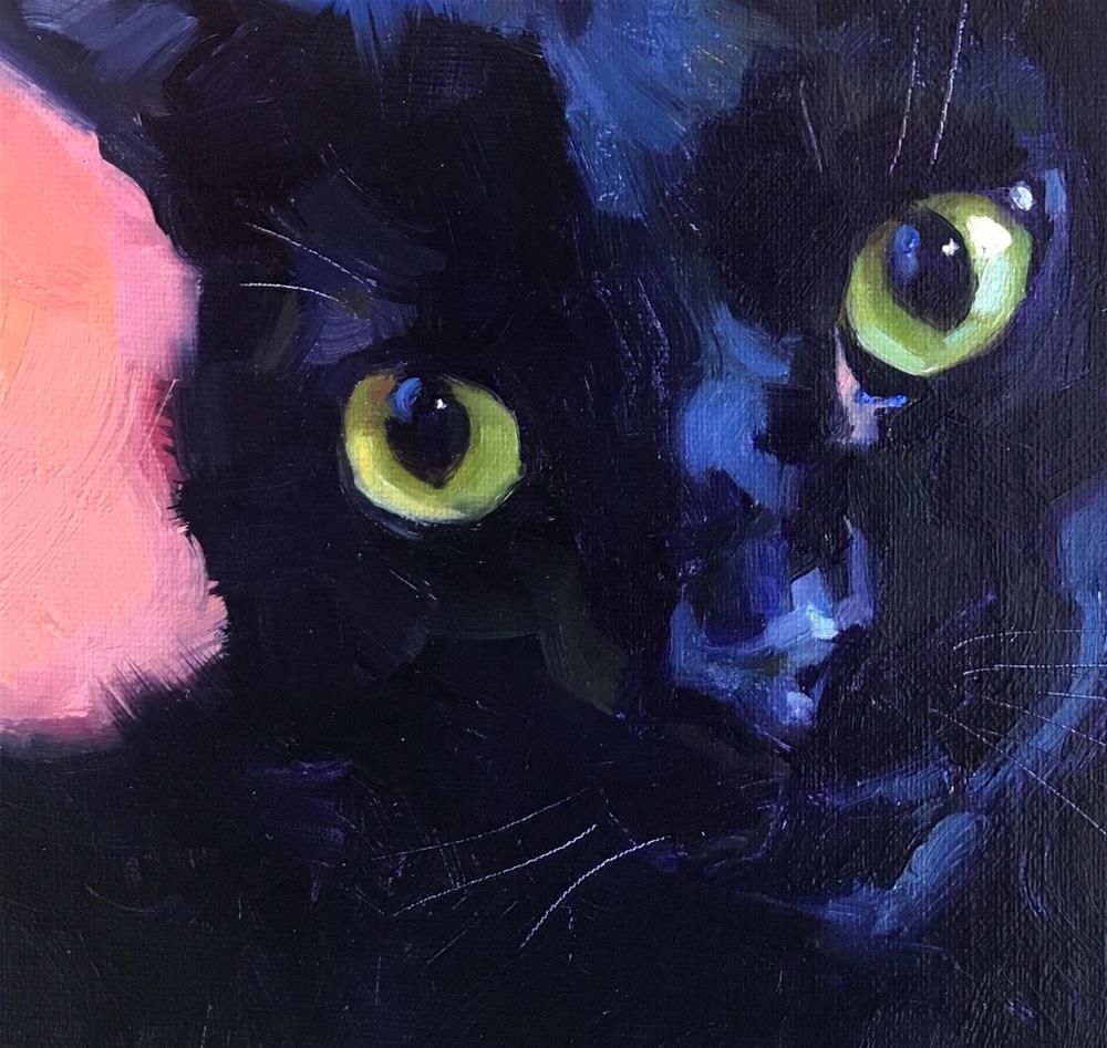 """Blackcat35"" original fine art by Katya Minkina"
