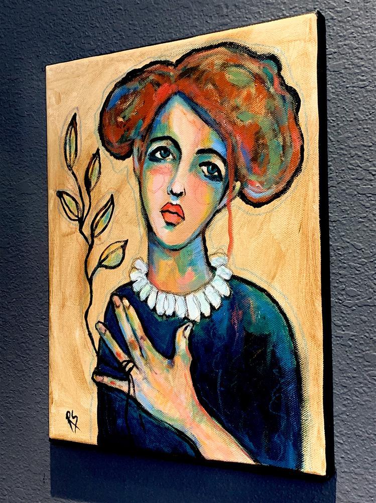 """""""Her Expressive Line"""" original fine art by Roberta Schmidt ArtcyLucy"""