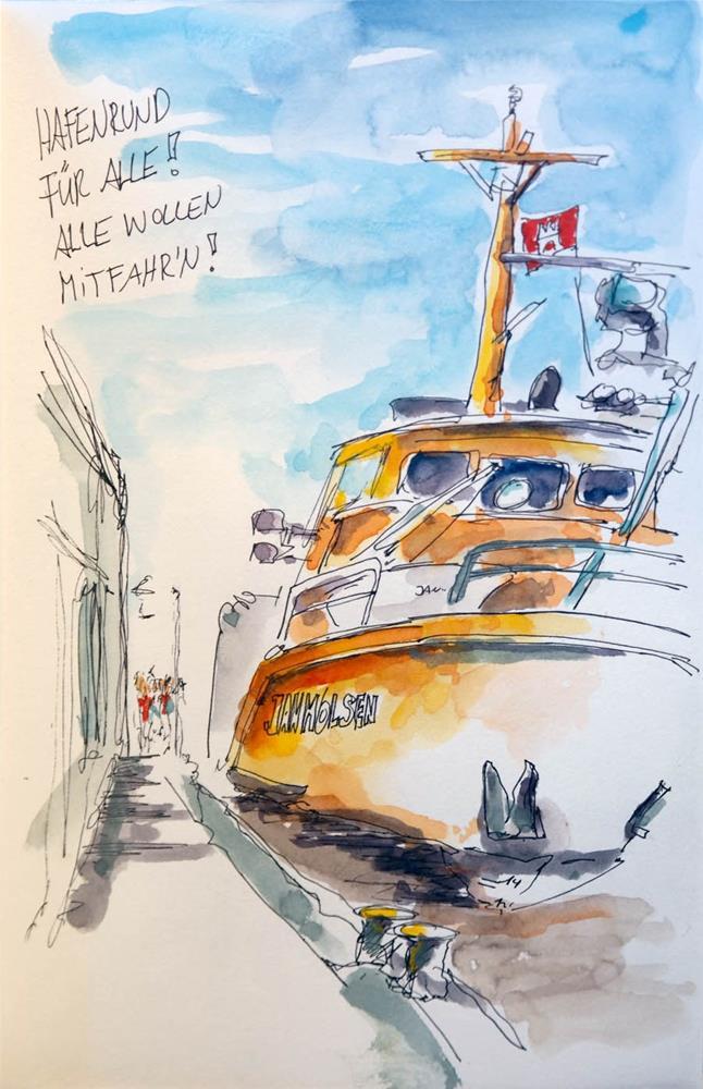 """""""2180 Hamburg Skizzen"""" original fine art by Dietmar Stiller"""
