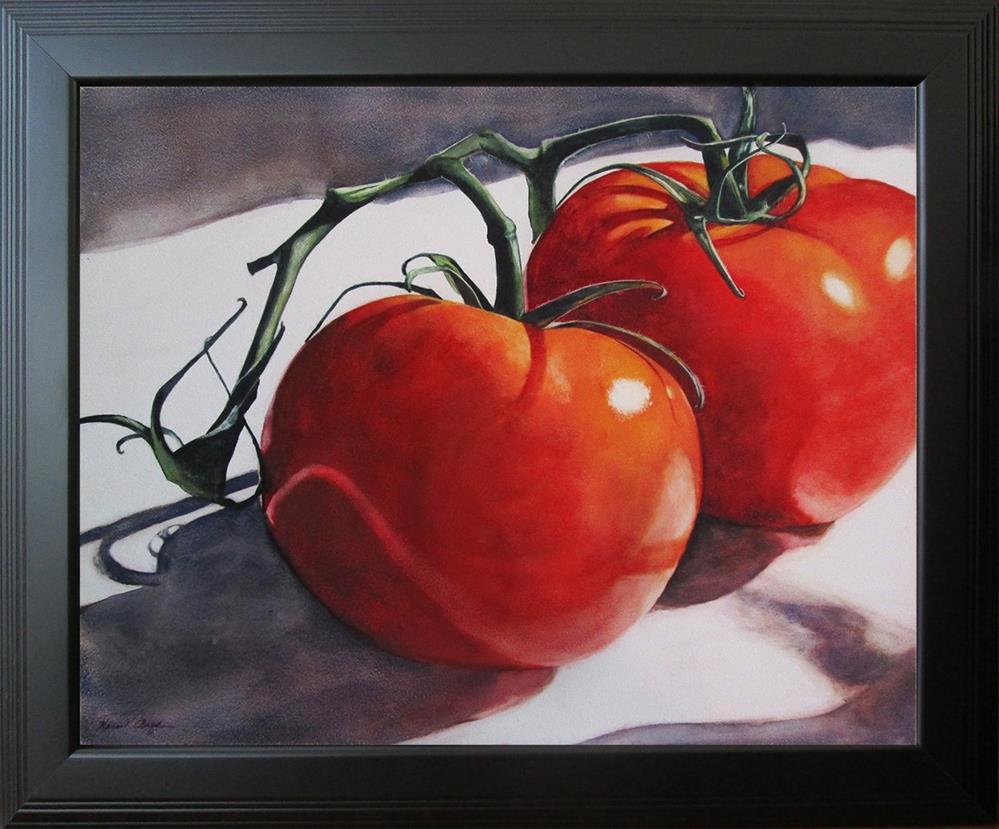 """Two Tomatoes"" original fine art by Kara K. Bigda"