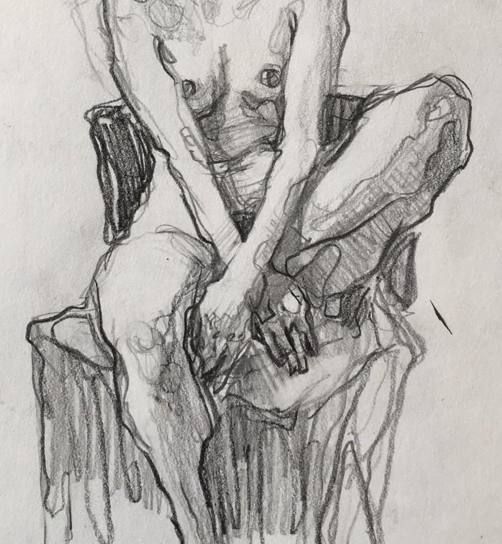 """Figure77"" original fine art by Katya Minkina"