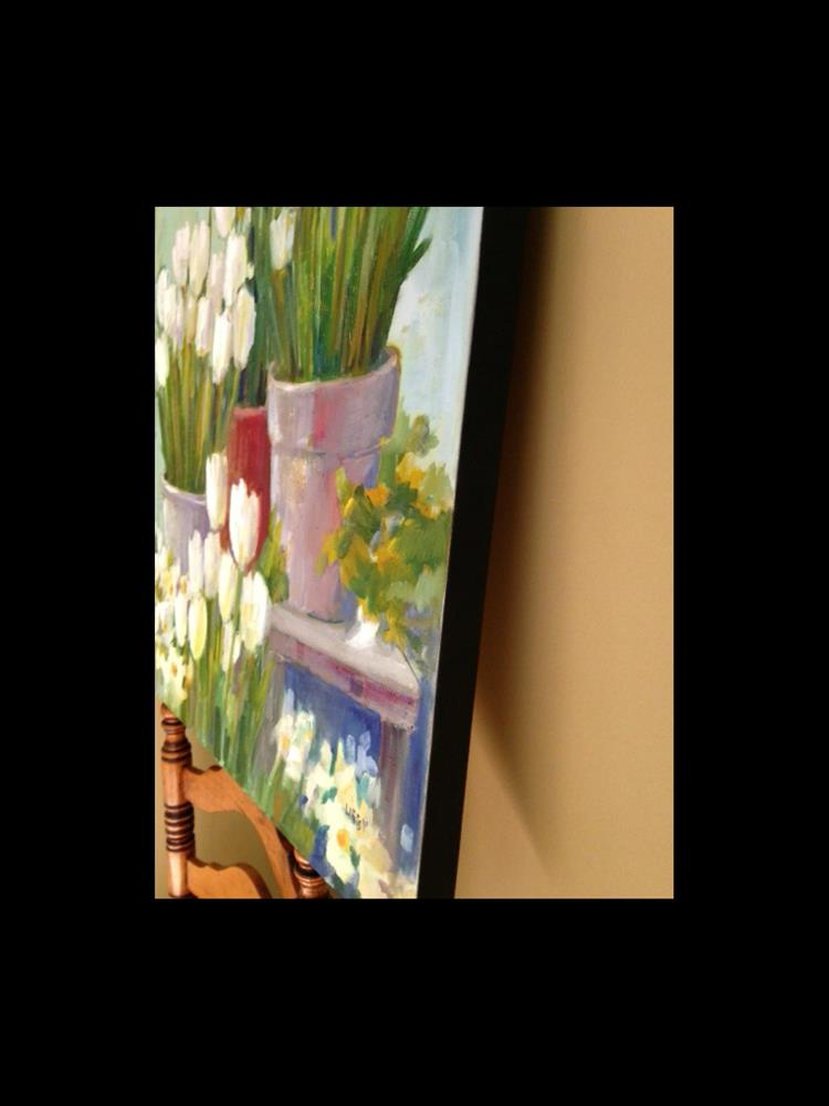 """""""White Tulips"""" original fine art by Libby Anderson"""