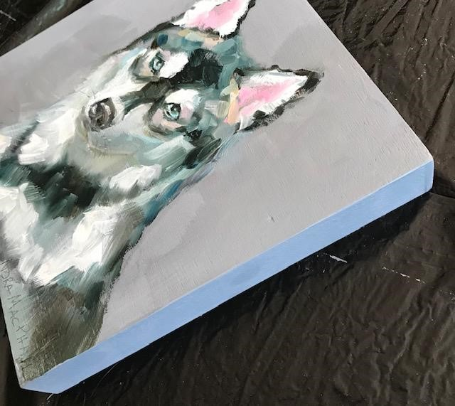 """Husky"" original fine art by Nora MacPhail"