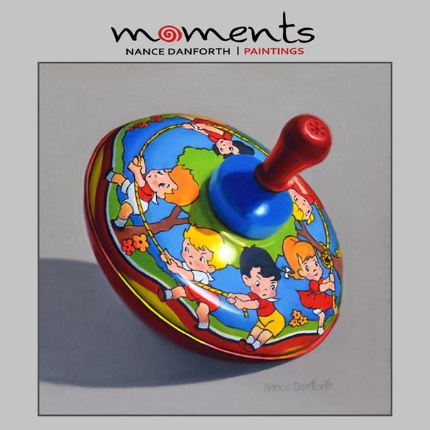 """Toy Top with Tug-O-War"" original fine art by Nance Danforth"