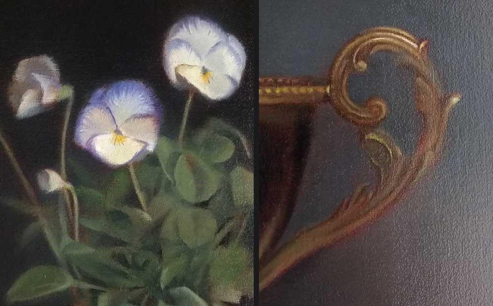 """Moonlight Violas"" original fine art by Ester Wilson"