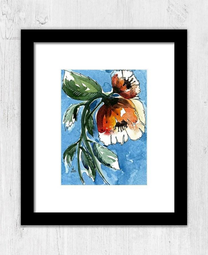 """""""Water Blooms"""" original fine art by Tonya Doughty"""