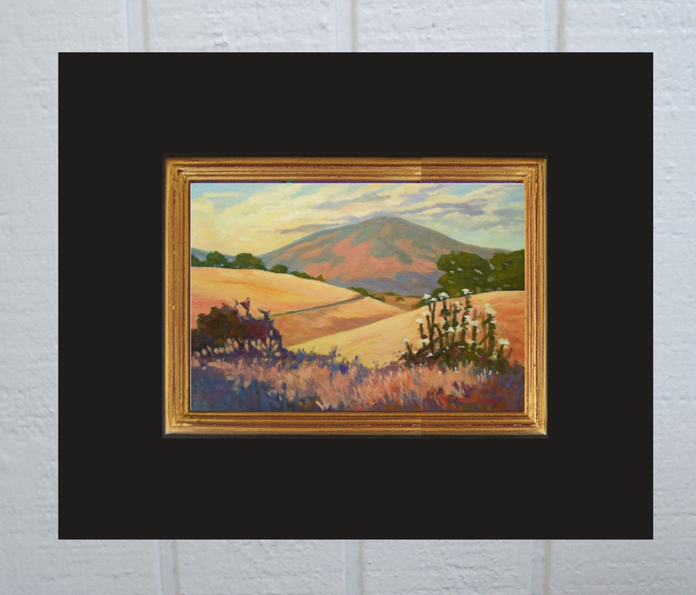 """Foothills in August"" original fine art by Rhett Regina Owings"