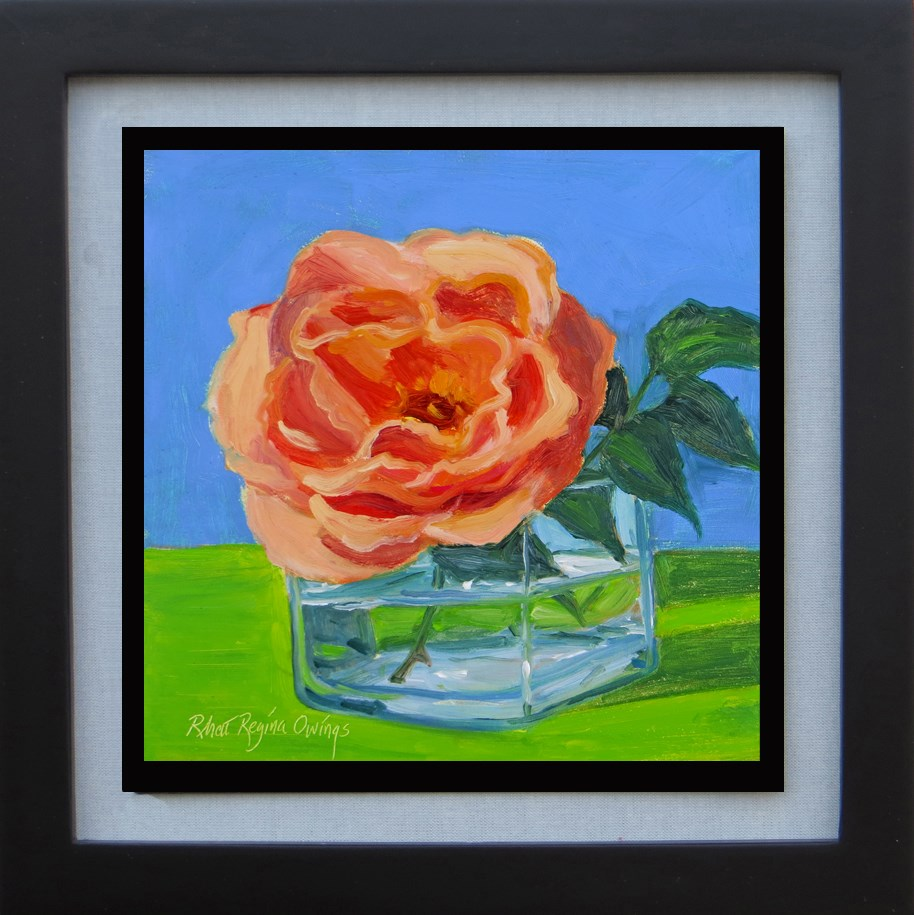 """Rose in a Glass Jar"" original fine art by Rhett Regina Owings"