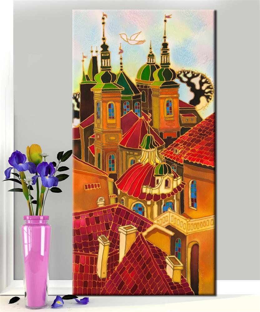 """Red Roofs Prague"" original fine art by Yelena Sidorova"